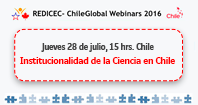 Aún estás a tiempo de inscribirte en el Segundo Webinar REDICEC-ChileGlobal